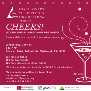 Cheers! TRYPO's Second Annual Happy Hour Fundraiser